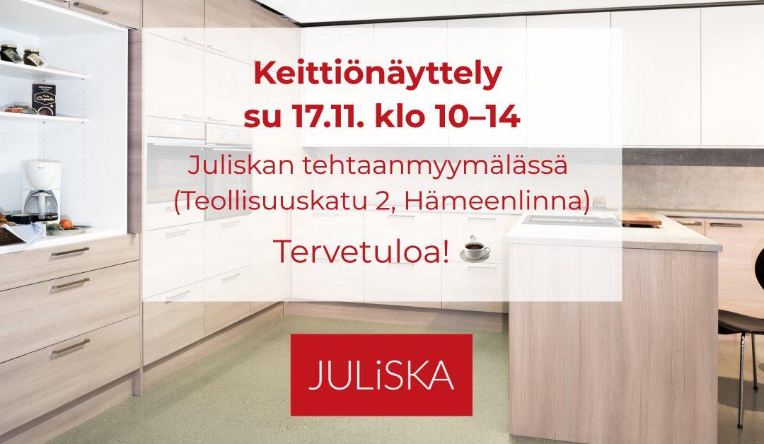 Keittiönäyttely su 17.11. klo 10–14